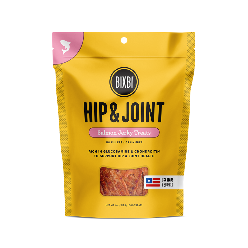 Bixbi Hip & Joint Jerky Treats 5 oz. - Salmon