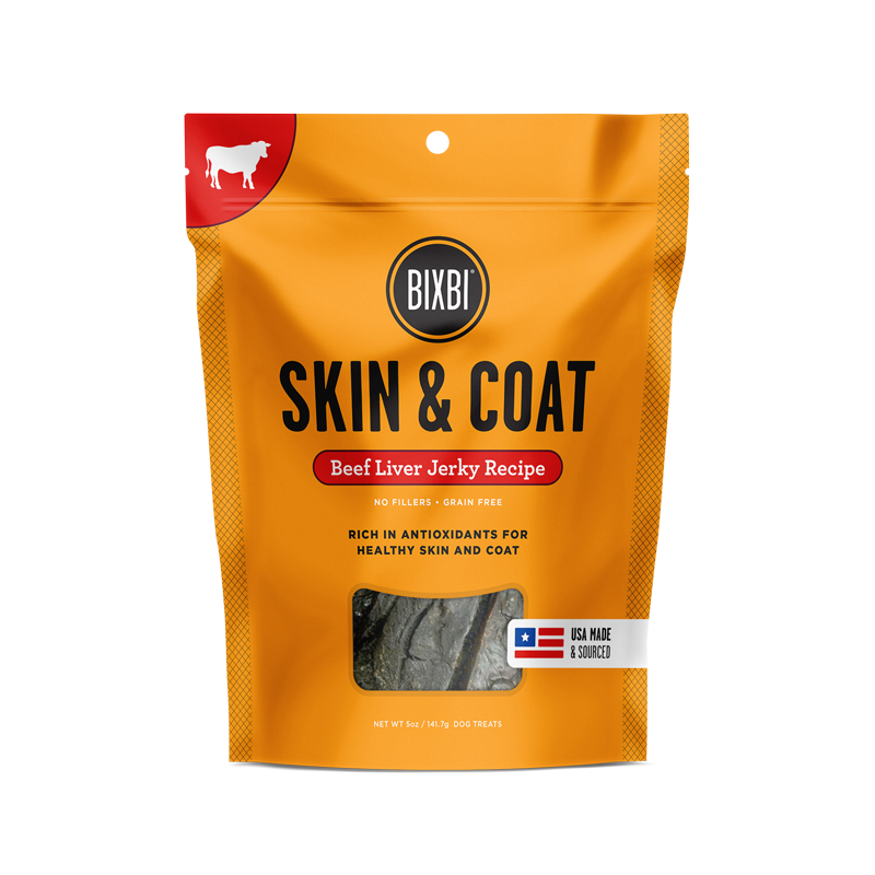 Bixbi Skin & Coat Jerky Treats 5 oz. - Beef