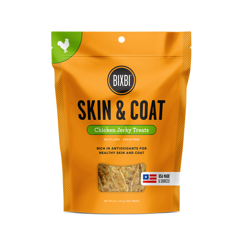 Bixbi Skin & Coat Jerky Treats 5 oz. - Chicken