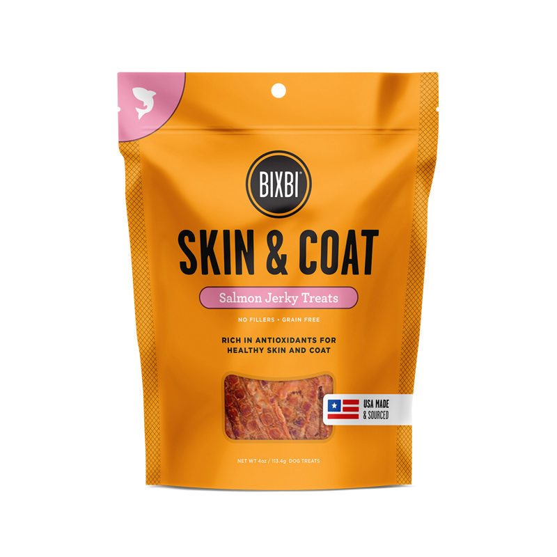 Bixbi Skin & Coat Jerky Treats 5 oz. - Salmon
