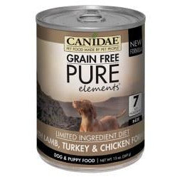 Canidae Grain Free - Pure Elements Lamb, Turkey & Chicken Formula - 13 oz., Case of 12