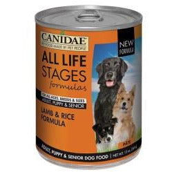 Canidae Life Stages - Lamb & Rice Formula - Canned Dog Food - 13 oz., Case of 12