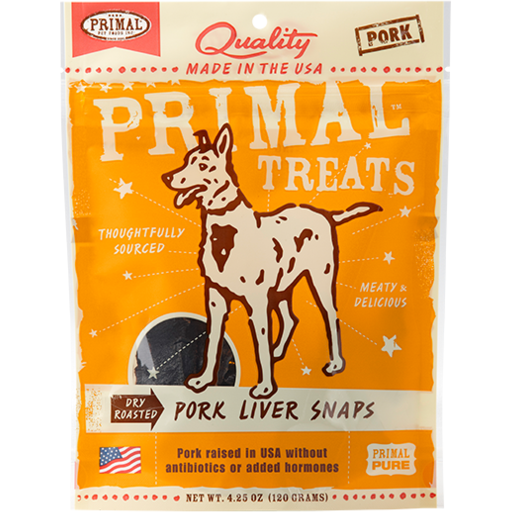 Primal Dry Roasted Pork Liver Snaps - 4.25 oz.