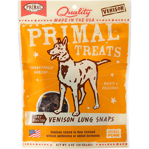 Primal Dry Roasted Venison Lung Snaps - 2 oz.