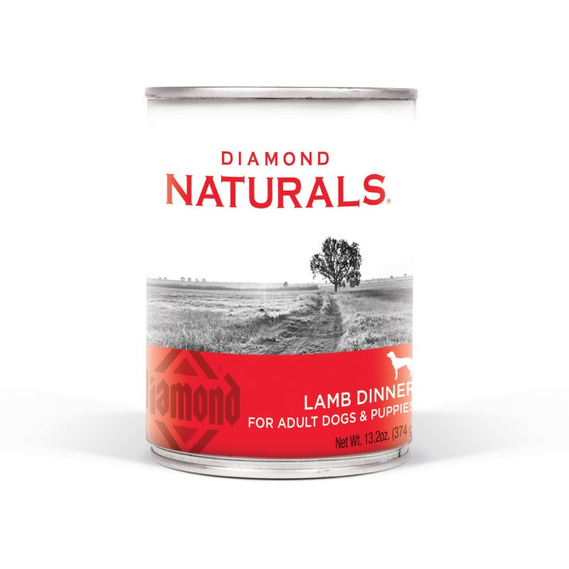 Diamond Naturals - Lamb Dinner - Canned Dog Food - 13.2 oz., Case of 12