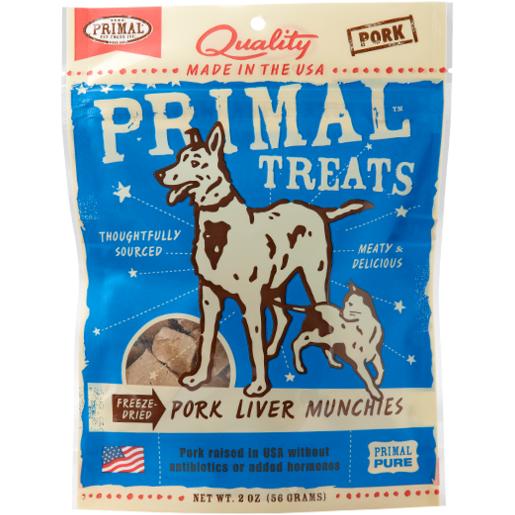 Primal Freeze Dried Pork Liver Munchies - 2 oz.
