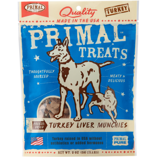 Primal Freeze Dried Turkey Liver Munchies - 2 oz.