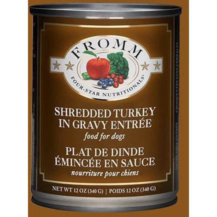 Fromm Four Star - Grain Free Shredded Turkey In Gravy - Canned Dog Food - 13 Oz., Case of 12