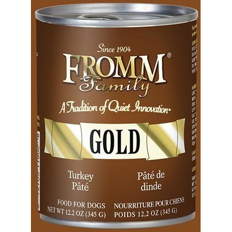 Fromm Gold - Turkey Pate - Canned Dog Food - 12.2 oz., Case of 12