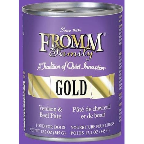 Fromm Gold - Venison & Beef Pate - Canned Dog Food - 12.2 oz., Case of 12