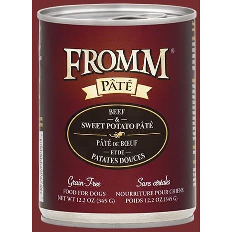 Fromm Pate - Beef & Sweet Potato - Canned Dog Food - 12.2 Oz., Case of 12