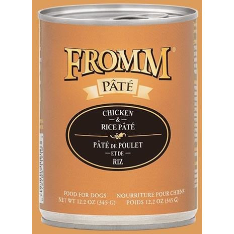 Fromm Pate - Chicken & Rice - Canned Dog Food - 12.2 Oz., Case of 12