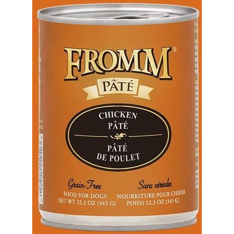 Fromm Pate - Chicken & Sweet Potato - Canned Dog Food - 12.2 Oz., Case of 12