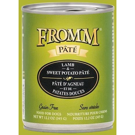 Fromm Pate - Grain Free Lamb & Sweet Potato - Canned Dog Food - 12.2 Oz., Case of 12