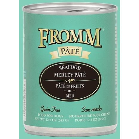 Fromm Pate - Grain Free Seafood Medley - Canned Dog Food - 12.2 Oz., Case of 12