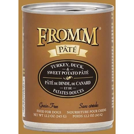 Fromm Pate - Grain Free Turkey, Duck, & Sweet Potato - Canned Dog Food - 12.2 Oz., Case of 12