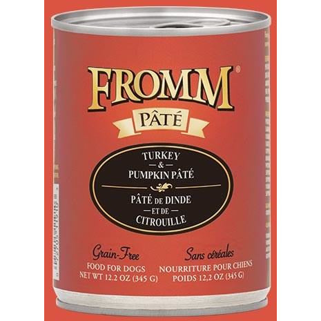 Fromm Pate - Grain Free Turkey & Pumpkin - Canned Dog Food - 12.2 Oz., Case of 12