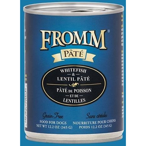 Fromm Pate - Grain Free Whitefish & Lentils - Canned Dog Food - 12.2 Oz., Case of 12