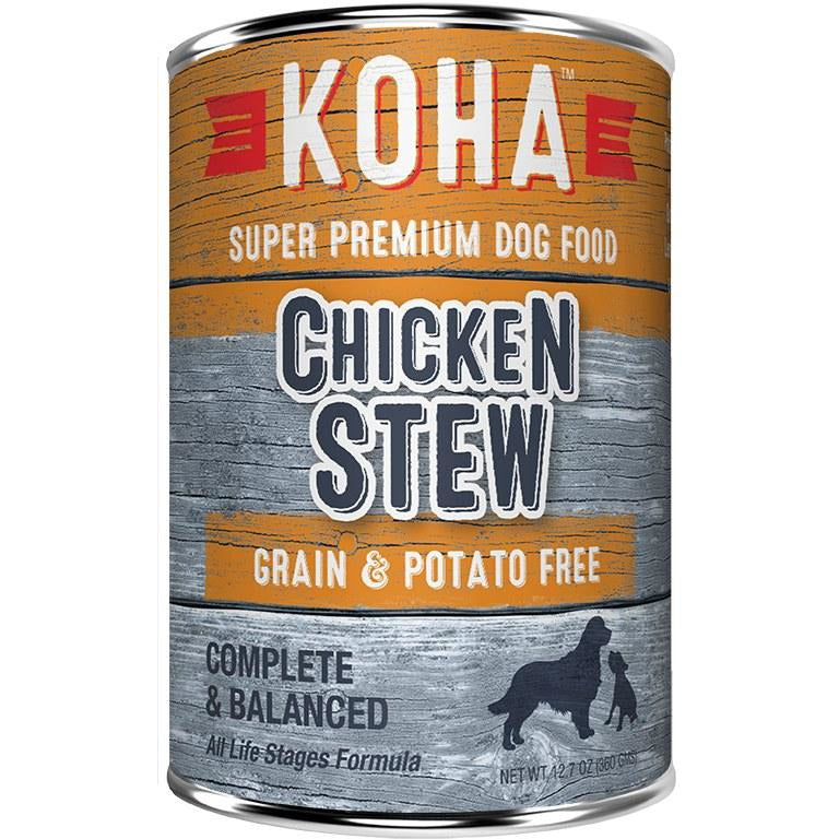 Koha - Chicken Stew - Canned Dog Food - 12.7 oz., Case of 12