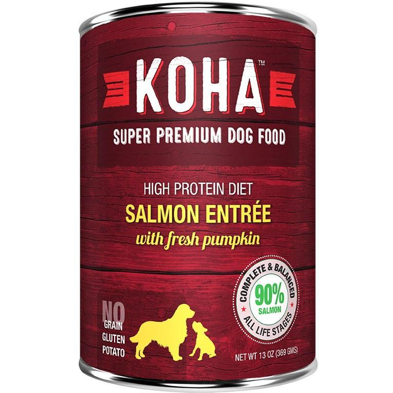 Koha - Limited Ingredient Salmon - Canned Dog Food - 12.7 oz., Case of 12