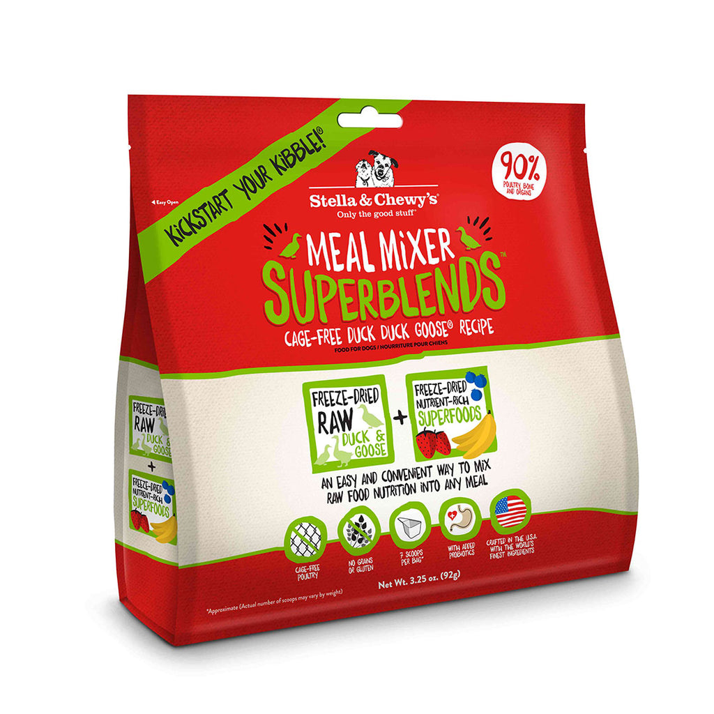 Stella and Chewy's Stella's Super Duck Goose Blends Meal Mixer Freeze Dried Dog Food