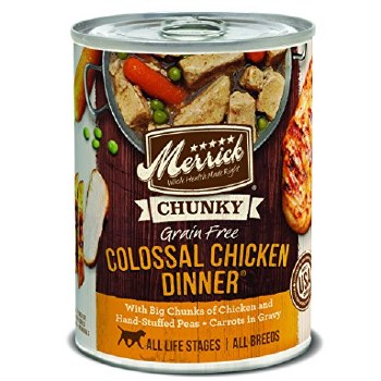 Merrick Chunky - Colossal Chicken Dinner - Canned Dog Food - 12.7 oz., Case of 12