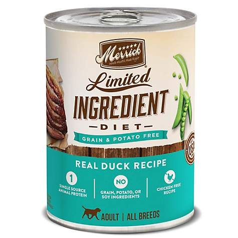 Merrick Limited Ingredient - Real Duck Recipe - Canned Dog Food - 12.7 oz., Case of 12