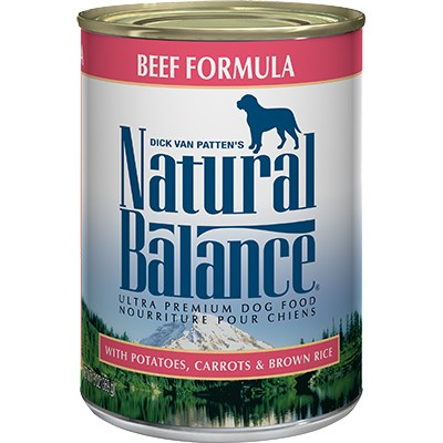 Natural Balance - Beef Formula - Canned Dog Food - 6 oz. & 13 oz., Case of 12
