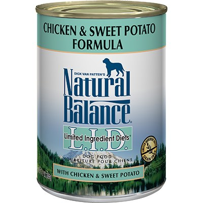 Natural Balance - Limited Ingredient Chicken & Sweet Potato - Canned Dog Food - 6 oz. & 13 oz., Case of 12