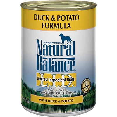 Natural Balance - Limited Ingredient Duck & Potato - Canned Dog Food - 6 oz. & 13 oz., Case of 12
