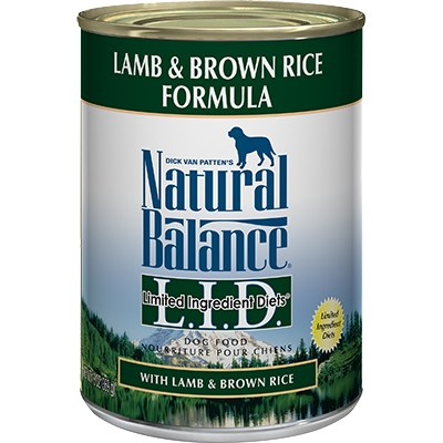 Natural Balance - Limited Ingredient Lamb & Brown Rice - Canned Dog Food - 13 oz., Case of 12