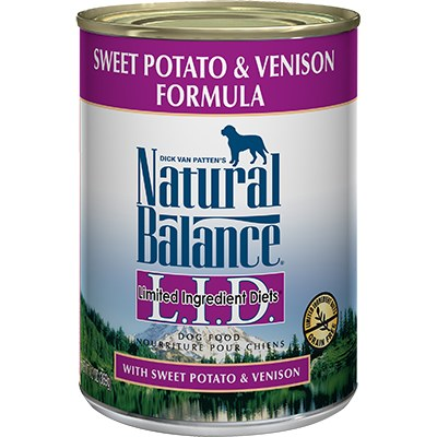 Natural Balance - Limited Ingredient Venison & Sweet Potato - Canned Dog Food - 6 oz. & 13 oz., Case of 12