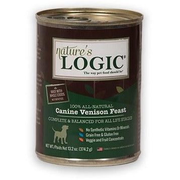 Nature's Logic - Canine Venison Feast - Canned Dog Food - 13.2 oz., Case of 12