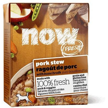 Now Fresh - Pork Stew With Bone Broth - Canned Dog Food - 12.5 Oz., Case of 12
