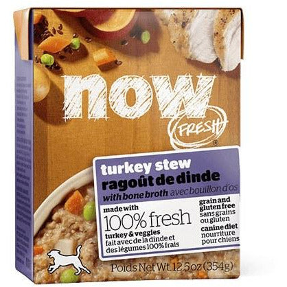 Now Fresh - Turkey Stew With Bone Broth - Canned Dog Food - 12.5 Oz., Case of 12