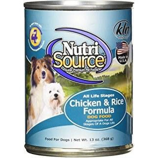 NutriSource - Chicken And Rice - Canned Dog Food - 13 Oz., Case of 12