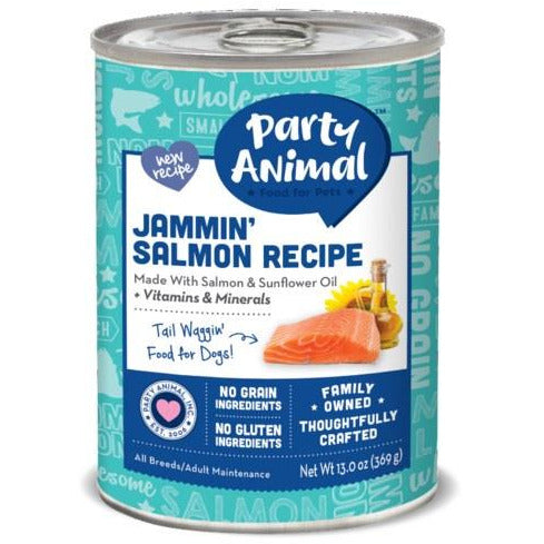 Party Animal - Jammin' Salmon Recipe - Canned Dog Food - 13 Oz., Case of 12