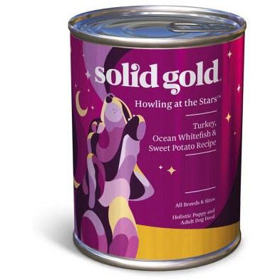 Solid Gold - Howling At The Stars Turkey, Ocean Whitefish, & Sweet Potato - Canned Dog Food - 13.2 oz., Case of 12