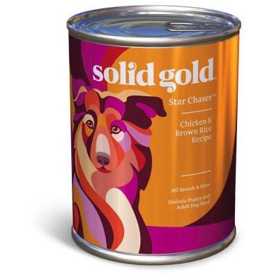 Solid Gold - Star Chaser Chicken & Brown Rice - Canned Dog Food - 13.2 oz., Case of 12