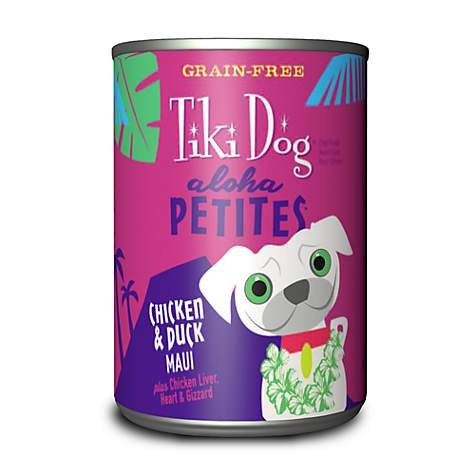 Tiki Dog Aloha Petites - Chicken & Duck Maui - Canned Dog Food - 3.5 Oz. & 9 Oz., Case of 12