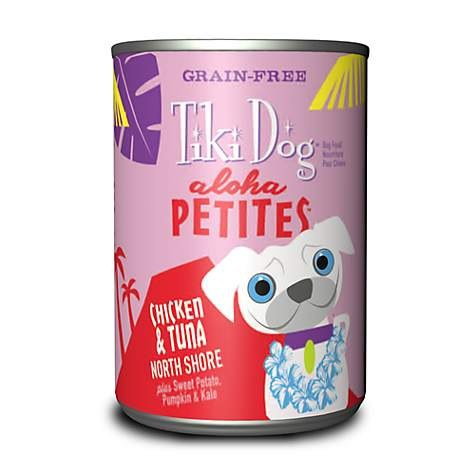 Tiki Dog Aloha Petites - Chicken & Tuna North Shore - Canned Dog Food - 3.5 Oz. & 9 Oz., Case of 12