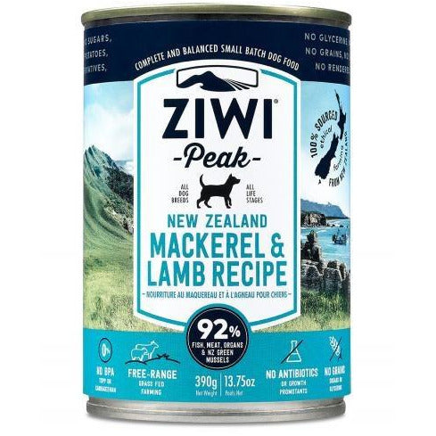 Ziwi Peak - Mackerel & Lamb Recipe - Canned Dog Food - 13.75 Oz., Case of 12