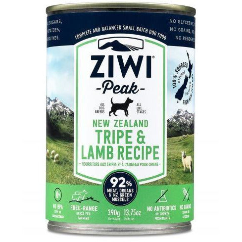Ziwi Peak - Tripe & Lamb Recipe - Canned Dog Food - 13.75 Oz., Case of 12