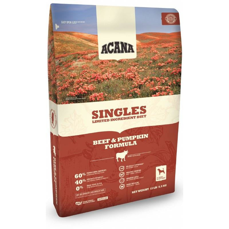 Acana Singles - Beef And Pumpkin - Dry Dog Food