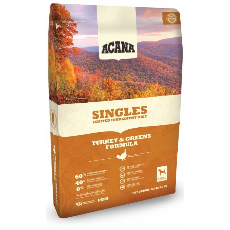 Acana Singles - Turkey And Pumpkin - Dry Dog Food
