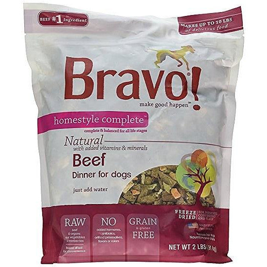 Bravo Homestyle Beef Freeze Dried Dog Food