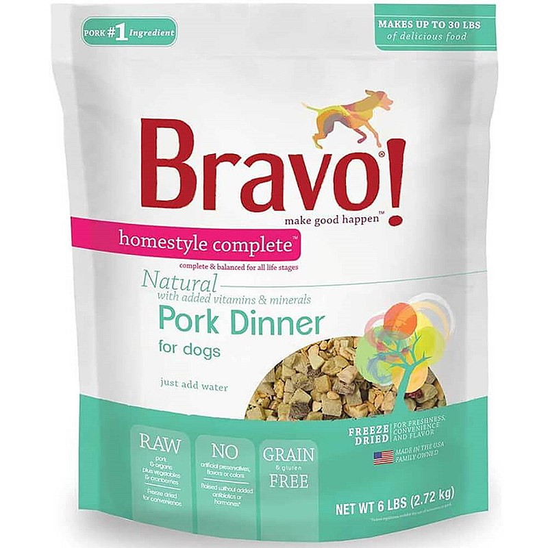 Bravo Homestyle Pork Freeze Dried Dog Food