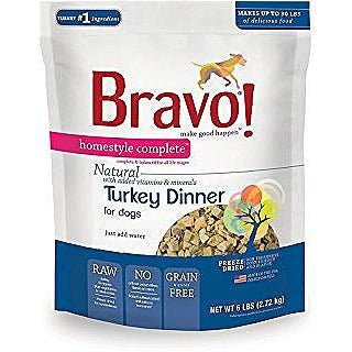 Bravo Homestyle Turkey Freeze Dried Dog Food