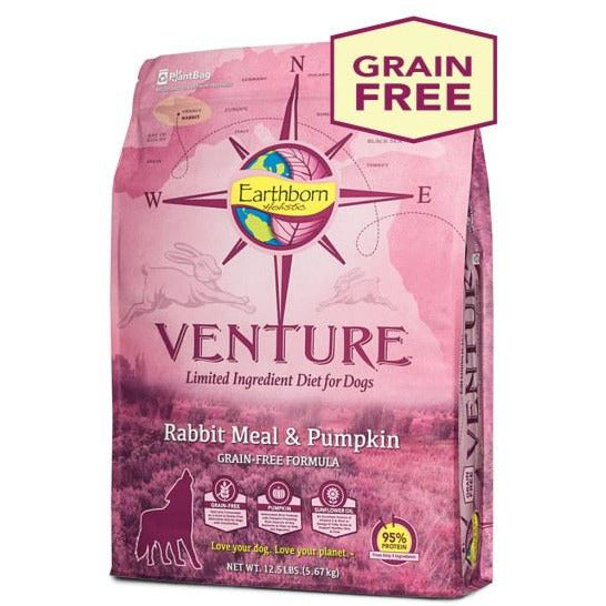 Earthborn Holistic Venture - Limited Ingredient Rabbit Meal & Pumpkin - Dry Dog Food