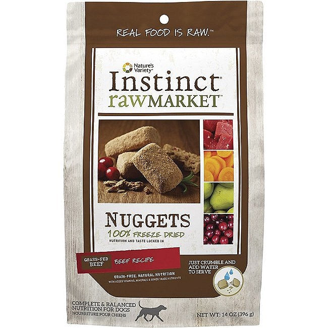 Nature's Variety Market Nuggets Beef Freeze Dried Dog Food